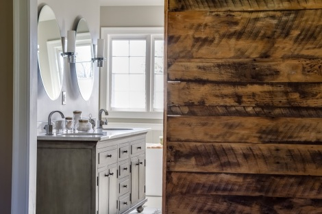 sliding door reclaimed barn wood
