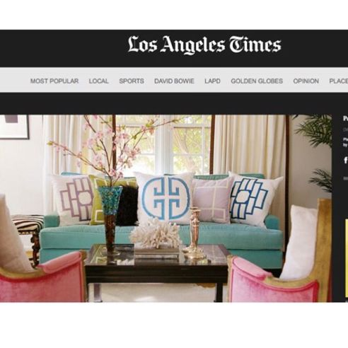 Thank you to @latimes for featuring a bunch of my designs for @pantone color of the year. #coloroftheyear #coloroftheyear2016 #pantone #pink #blue